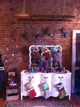 Holiday display at Green Roost
