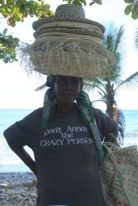 beach hat seller