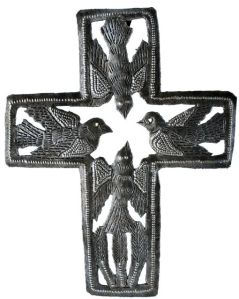 cross with birds