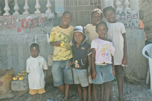 children in jacmel haiti